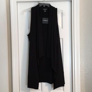 NWT Liz Claiborne Career XXLT Black Long Vest
